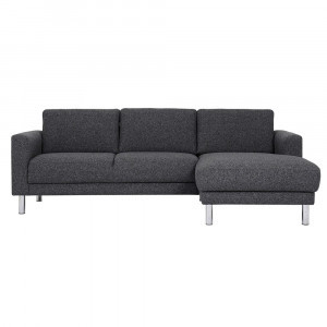 Amazing Cleveland Nova Antracit Chaiselongue Sofa Rh Flat Pack Machost Co Dining Chair Design Ideas Machostcouk